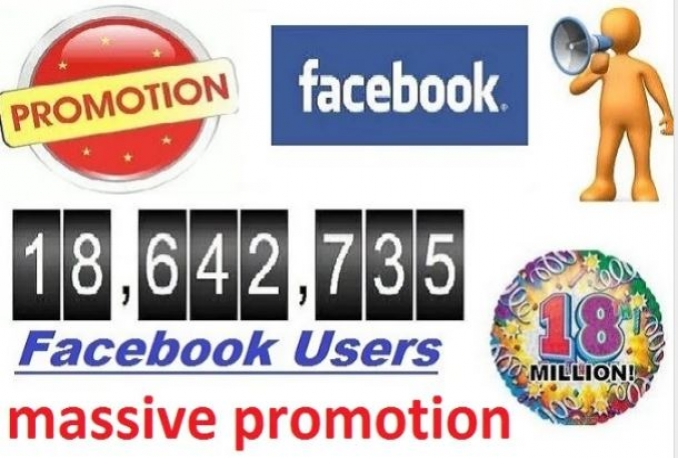 promote your WEBSITE to 18Million Usa facebook group members