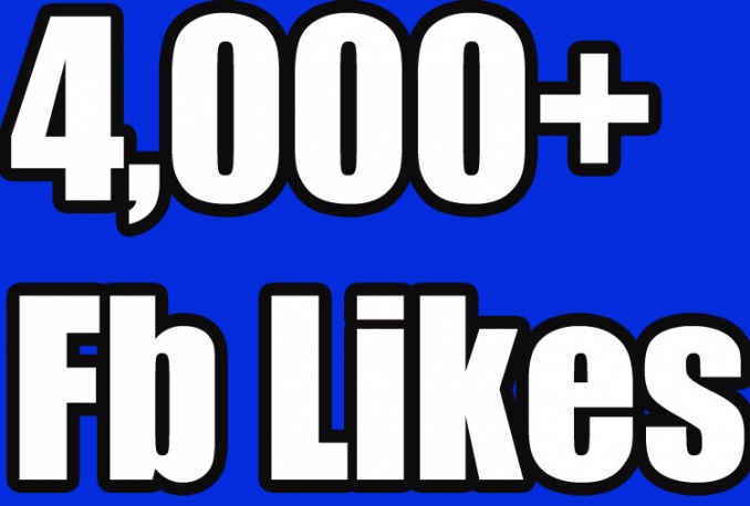 4000 Facbook fan page like world wide only for price