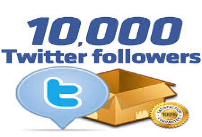 I will provide guranteed 10,000+ twitter followers in your account