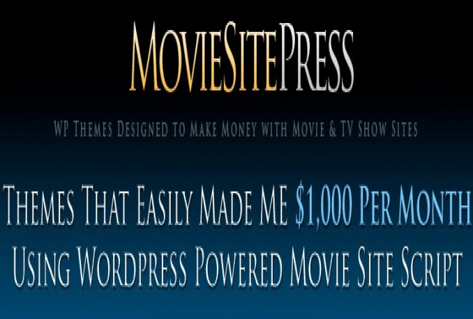 Sell Movie Site Press 2.0 Download – FULL Version Licence Key