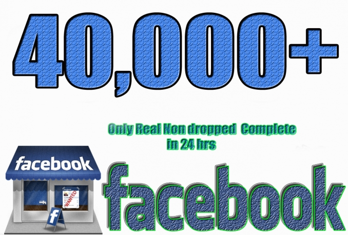 Gives you 40,000+Instantly started Guaranteed Facebook likes