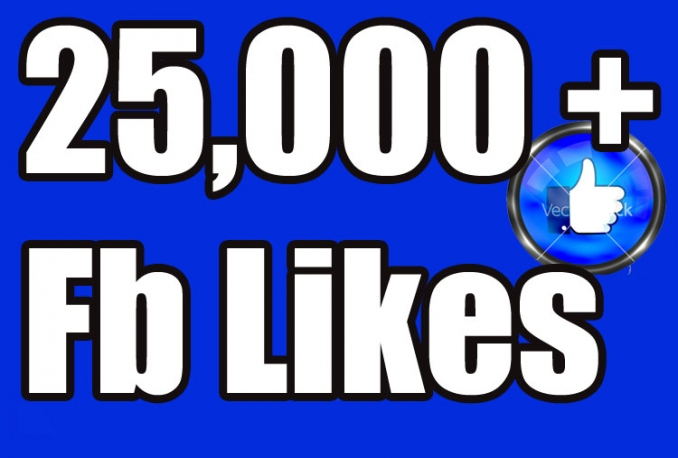 Gives you 25,000+Instantly started PERMANENT Active Facebook likes