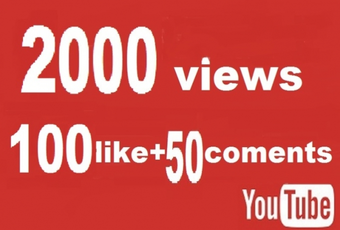 give you 2000 High Retention YouTube Views and 200 Likes