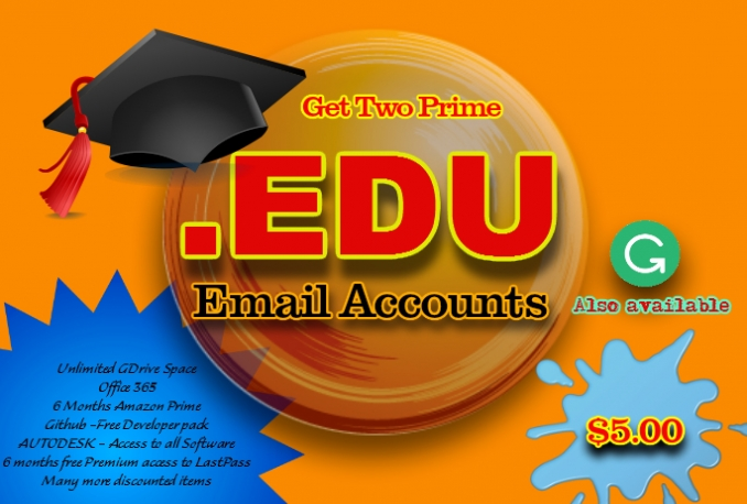 Get You 10 EDU Prime Accounts With Unlimited GDrive Storage