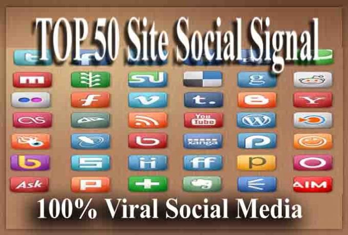 shares 45 + Social Site unique signals Viral