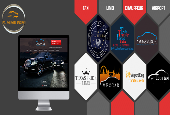 design taxi home page design with booking form