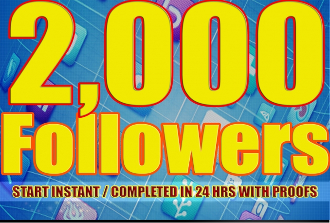 Twitter 2,000+Stable/NON Drop/Fast Followers.