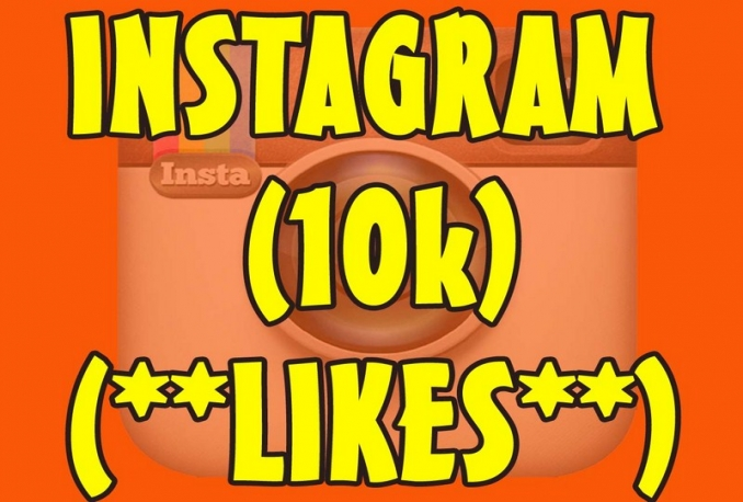 Instagram 10,000 Instant Fast Non Drop (LIKES