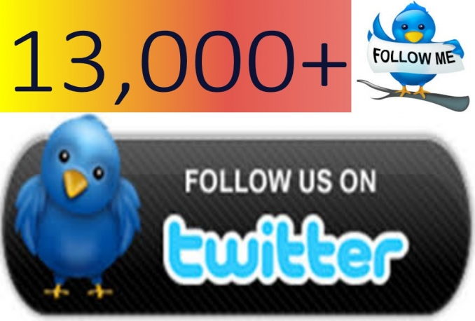 give you 13000+ Non Drop Twitter followers