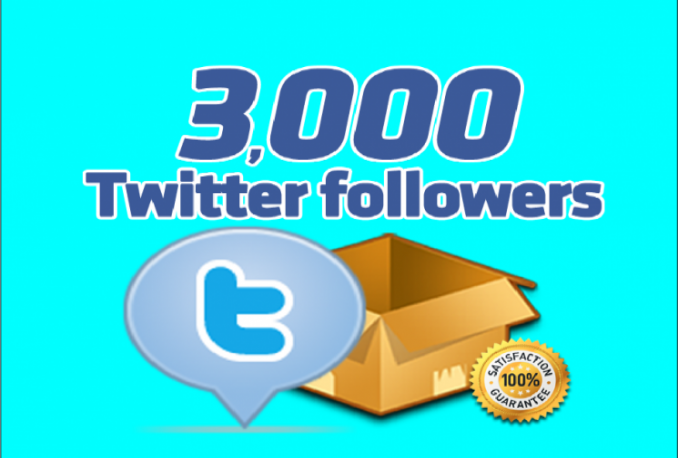 give you 3000+ Non Drop Twitter followers