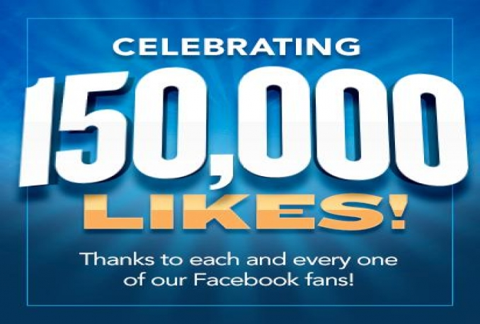 Provide You 150,000 Real/Human/Unique/Active Fb Likes For Your page 100% Safely.