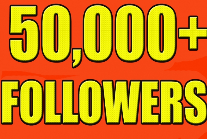 Add Real Quality 50,000 Twitter Followers to your Profile