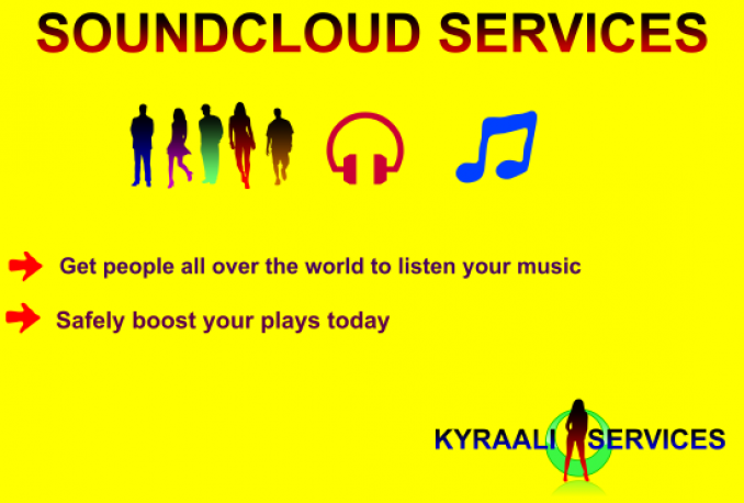 GIVE YOU 11,000 soundcloud plays and 110 likes to your tracks