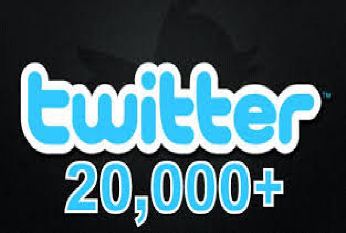 provide guranteed 20,000+ twitter followers in your account