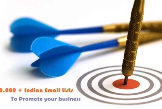 give you 20000+ Indian email list to promote to promote your buiness