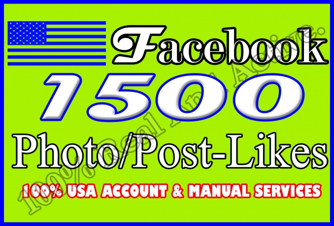 1500 Real Photo, Post, Video, Album Likes