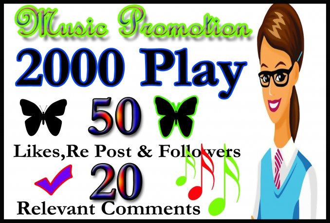 soundcloud 50 Like Re Post Followers 20 Relavent Comment 2000 play