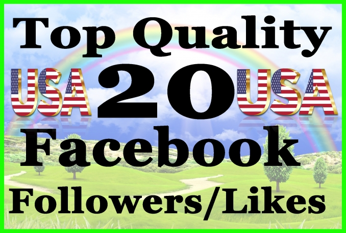 Give you 20+ REAL Facebook Followers/Likes Permanent
