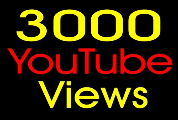 Add 3,000 NON Drop Youtube Views On Any Video