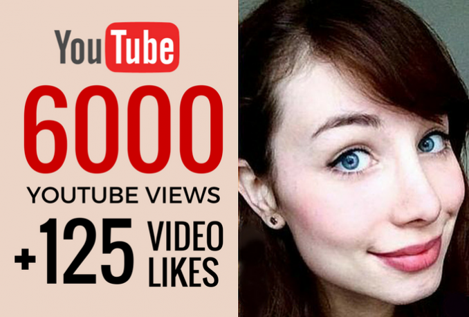 provide 6,000 YOUTUBE Views and 125 Video Likes