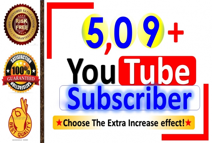 Add & Instant Start 6,00+ YouTube-Subscriber, Real Active Person & Non Drop