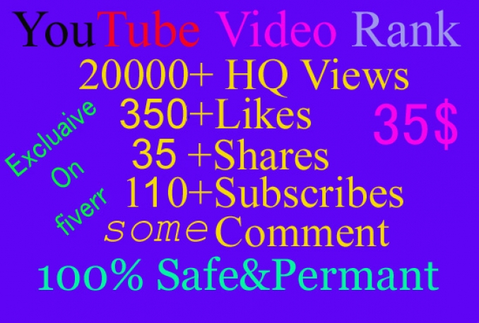 give you youtube 20000 real views