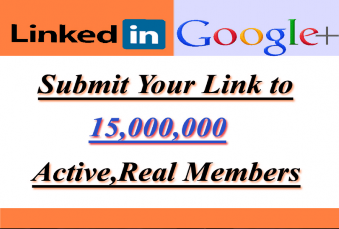 promote anything to 15,000,000 linkedin and google members
