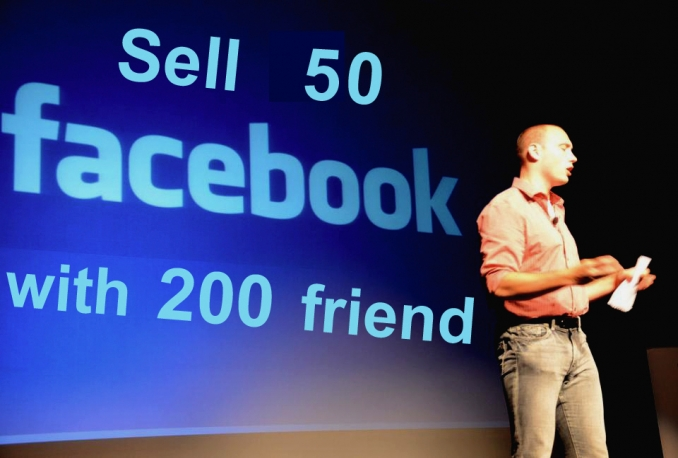 sell 50 facebook id with 200 friends