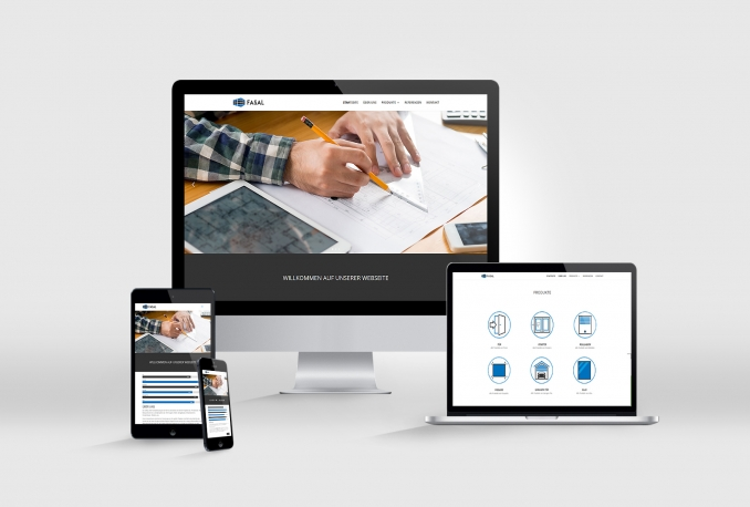 create a professional responsive website