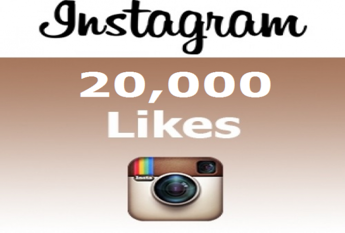 20000 HQ fast instagram likes .