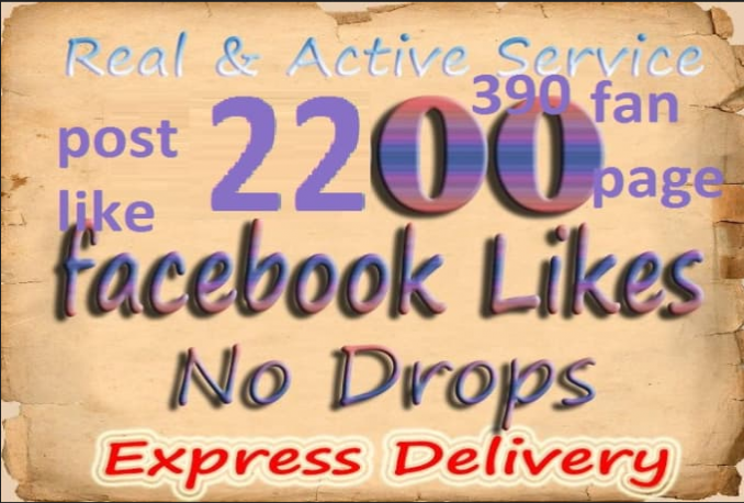 promote your facebook post 2400 Like in 48 hrs