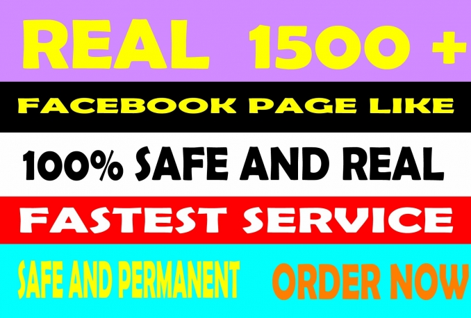 give you 1500+ Facebook Fans/Likes With Real Human Verified Facebook User