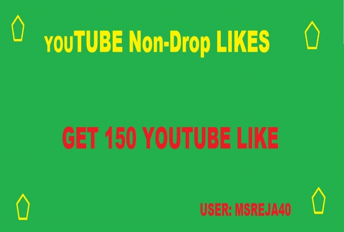 give you 500 YOUTUBE Likes non-drop within 12 hours