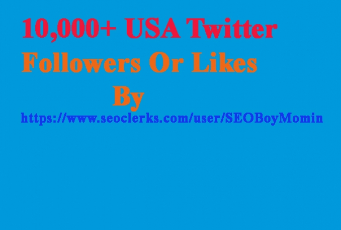 Give you Non drop 10,000 USA Twitter Followers