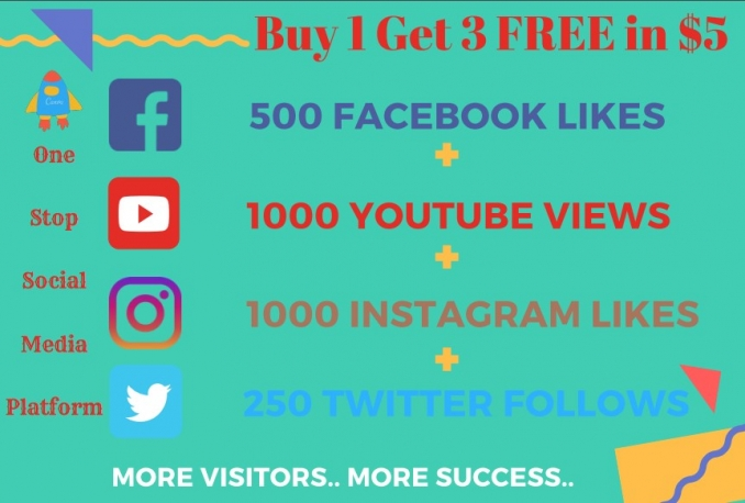 I will add 500 real Facebook likes and Instagram, Twitter Followers