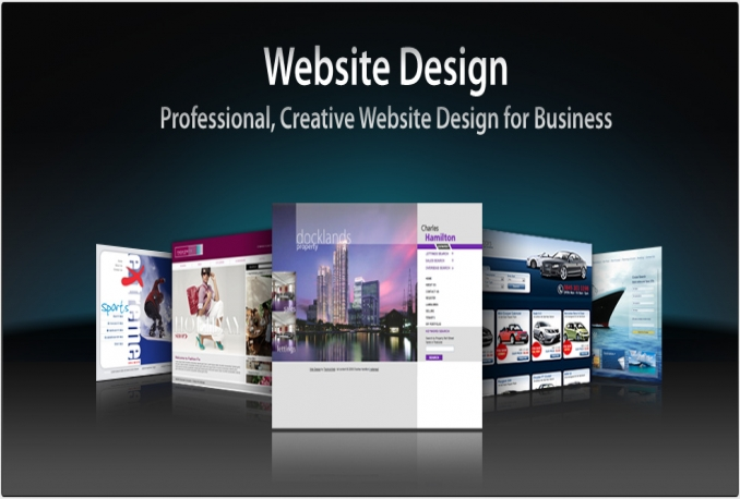 I will make a professional looking website for you