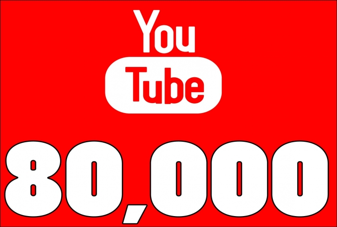 Give You High Quality 80,000+YOUTUBE views