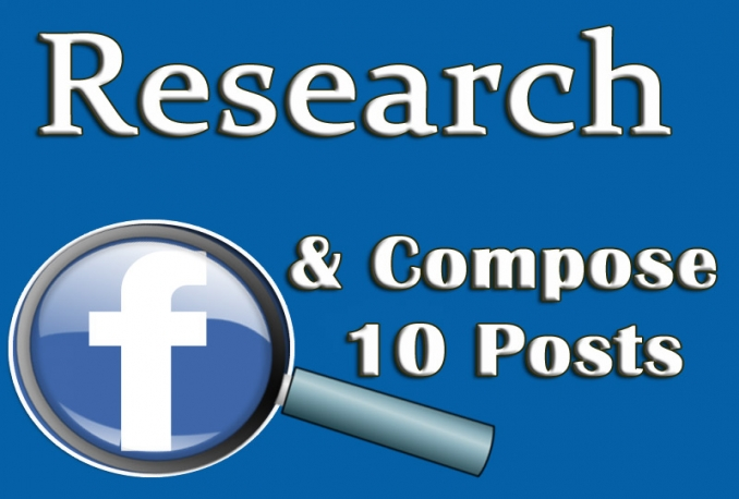 research and Compose 10 Facebook Posts on Any Subject