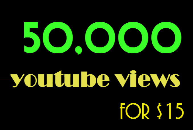 add 50k 50000 youtube views and 300 likes