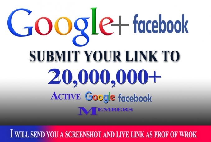 promote link to 20,00,000 facebook and google plus members