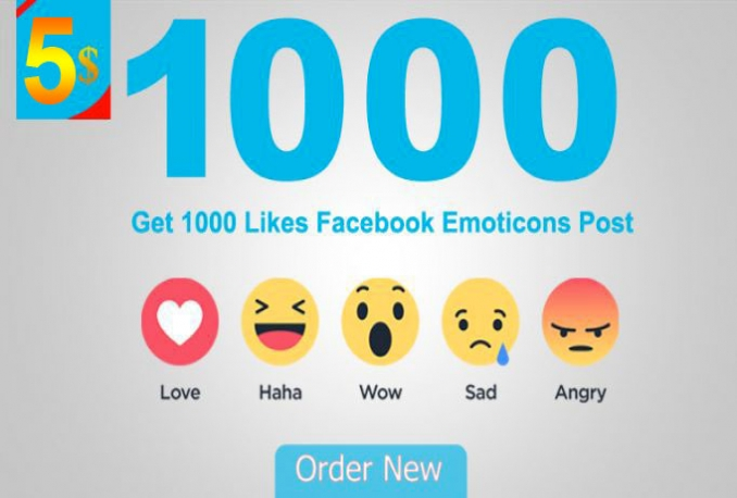 1000 Facebook Emoticons Post Likes