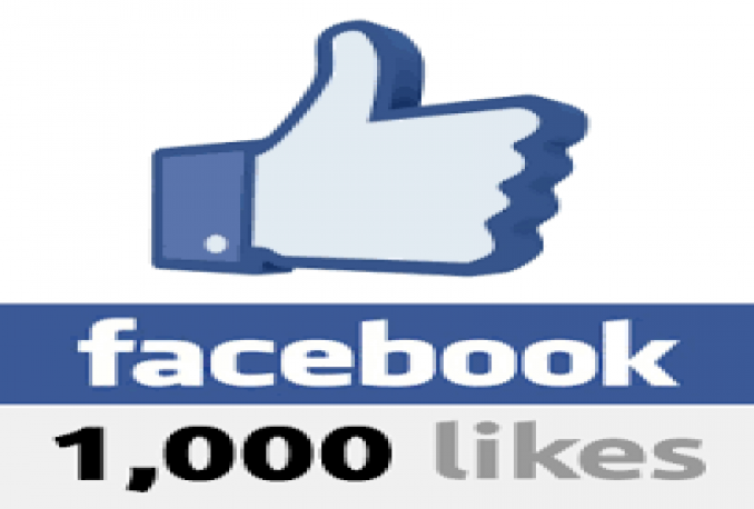Gives you 1000+Instantly started Guaranteed Facebook likes