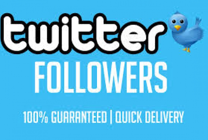 Amazing +1000 Twitter followers Non-drop High quality