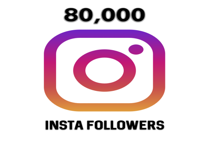80,000 Instagram fast Followers