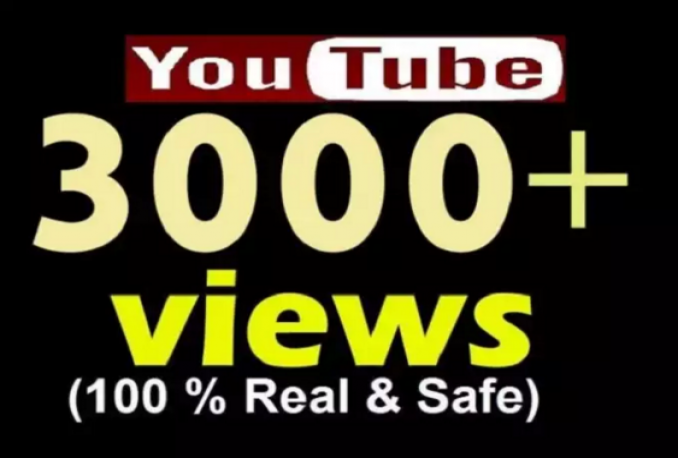 Provide 3000 REAL FAST NON DROP YouTube Views