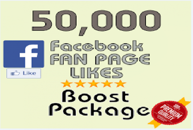 add 50000+ Facebook Fan Page Likes within 5 days