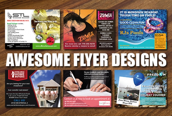 design a professional flyer for your business