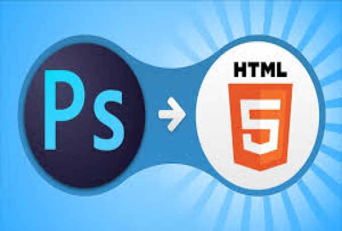 convert a psd to html,bootstrap,jquery with responsive
