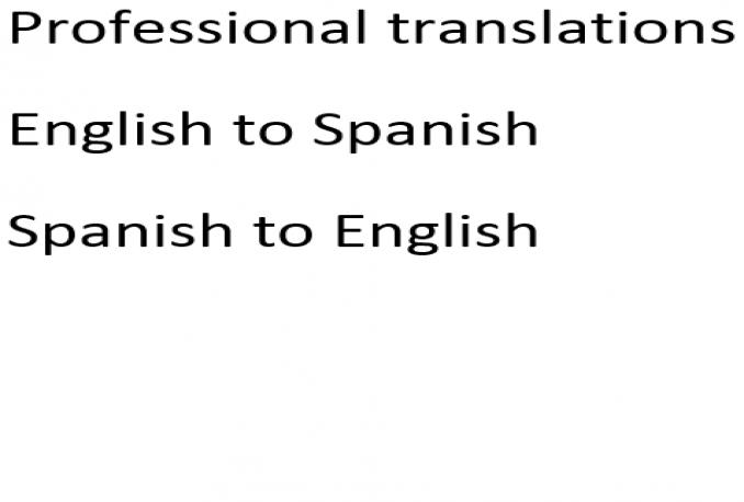 translate English to Spanish and vice versa