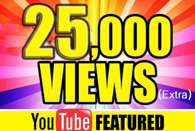 give you 25000 youtube >>Instant start>>